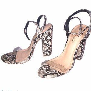 Venus Snake Skin Printed Heels Size 7